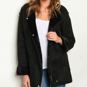 WARM BLACK COAT